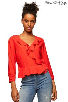 Miss Selfridge Wrap Ruffle Blouse
