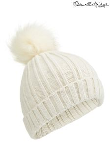 Miss Selfridge Faux Fur Pom Pom Hat