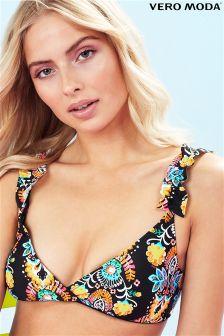 Vero Moda Printed Triangle Bikini Top
