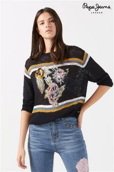 Pepe Jeans Floral Knit Jumper