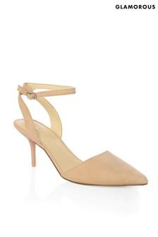Glamorous Kitten Heel Court Shoes