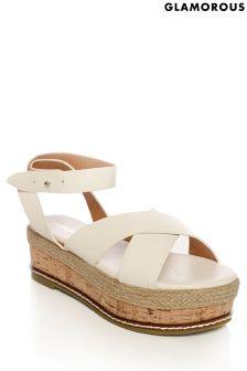 Glamorous Cork Flatform Sandal