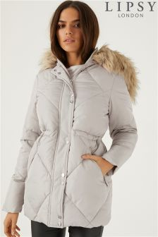 Lipsy Diamond Quilted Puffer Jacket