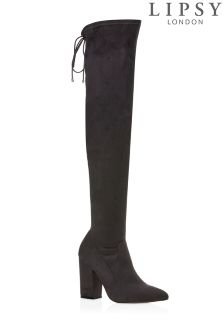 Lipsy Almond Toe Over The Knee Boots