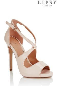 Lipsy Cross Strap Slim Platform Sandals