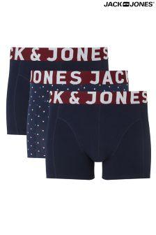 Jack & Jones Waistband Trunks Pack Of 3