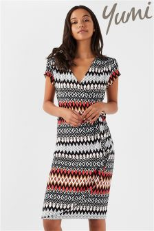 Yumi Aztec Wrap Dress