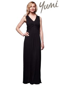 Yumi Pleated Maxi Dress