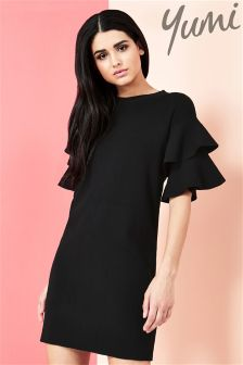 Yumi Frill Sleeve Knit Dress
