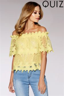 Quiz Crochet Bardot Top