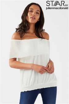 Star By Julien Macdonald Pleated Detail Bardot Top