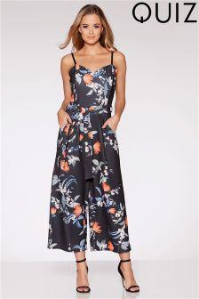 Quiz Floral Print Culotte Jumpsuit