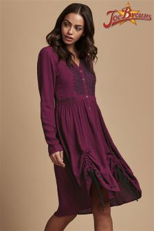 Joe Browns Crinkle Embroidered Hitched Dress