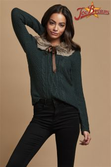 Joe Browns Faux Fur Collar Sweater