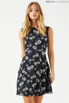 Mela London Daisy Print Skater Dress