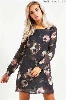 Mela London Printed Chiffon Tunic Dress