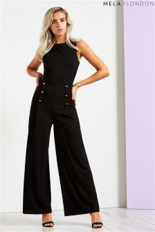 Mela London Military Button Jumpsuit