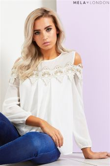 Mela London Lace Detail Top