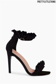 PrettyLittleThing Pleated Frill Strappy Heels