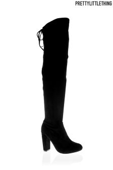 PrettyLittleThing Heeled Thigh Boots
