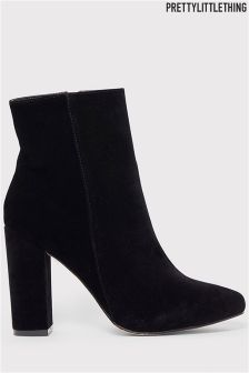 PrettyLittleThing Faux Suede Ankle Boots