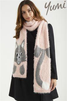 Yumi Fluffy Cat Scarf