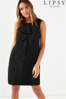 Lipsy Ruffle Front Shift Dress