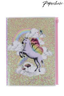 Paperchase Flyaway A5 Glitter Notebook
