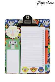Paperchase Monkey Puzzle Magnetic Clipboard And Pad