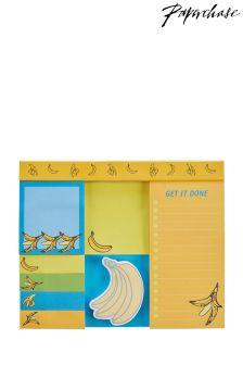 Paperchase Banana Print Sticky Notes