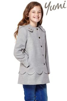 Yumi Girl Scalloped Trim Coat