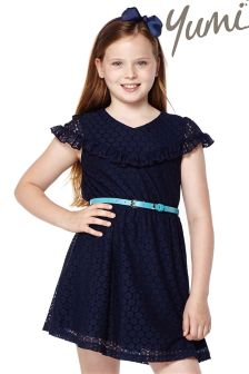 Yumi Girl Ruffle Lace Dress