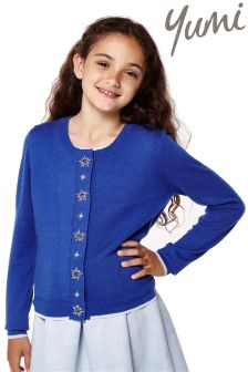 Yumi Girl Embellished Star Cardigan