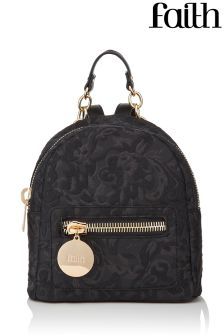 Faith Velvet Double Buckle Backpack