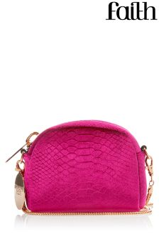 Faith Velvet Embossed Cross Body