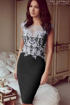 Lipsy Love Michelle Keegan Petite Lace Appliqué Bodycon Dress