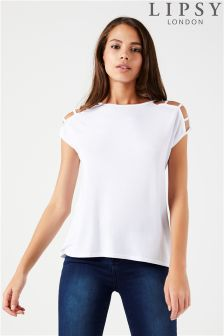 Lipsy Grid Sleeve Top