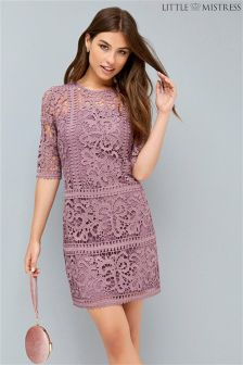 Little Mistress Rose Crochet Shift Dress