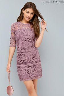 Little Mistress Rose Crochet Shift Dress