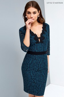 Little Mistress Peacock Lace Dress