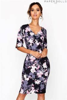 Paper Dolls Blossom Print Bodycon Dress