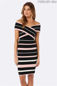 Forever New Stripe Bodycon Dress