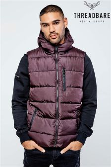 Threadbare Hooded Quilted Gilet