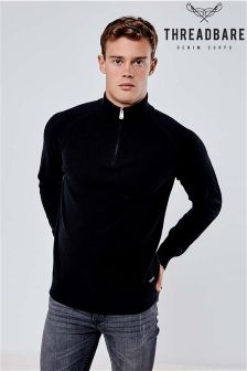 Threadbare Zip Neck Jumper