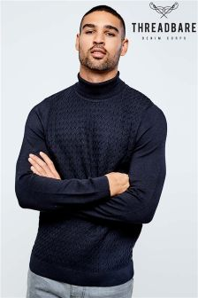 Threadbare Apache Roll Neck Jumper