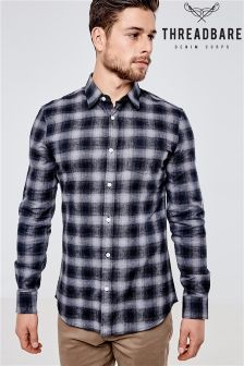 Threadbare Benji Brushed Flannel Check Shirt