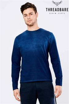 Threadbare Moscow Ombre Wash Long Sleeved Tee