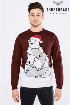 Threadbare Christmas Novelty Jumper With Lights