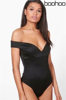 Boohoo Sweetheart Off The Shoulder Bodysuit