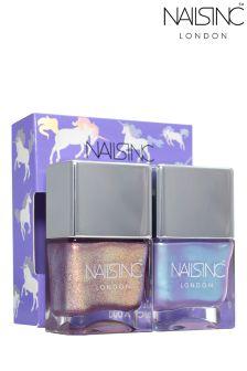 Nails Inc Sparkle Like A Unicorn Nail Polish Duo Kit